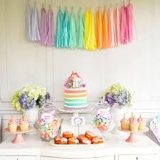 unicorn birthday party colorful pastel unicorn birthday party idea popsugar