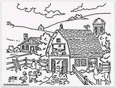 farm animals coloring page farm scenes coloring page farm life farm barn and silo