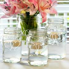 Mason Jar Arrangements Two Hearts Mason Jar Centerpieces Set Of 4 Free Shipping On