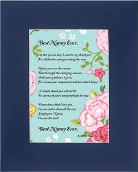 mothers day gift for nanny buy mothers day gift for nanny best nanny poem 8x10 single