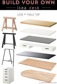 Building A Wooden Desk Top by Build Your Own Ikea Desk Desks Modern And White Table Top