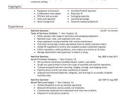 Cnc Machine Operator Resume Sample by Resume For Heavy Equipment Operator Template Billybullock Us