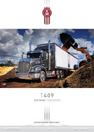 kenworth heavy duty trucks kenworth t409 brochure hallam truck