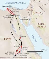 Sinai Peninsula On World Map by Egypt Private Journey Itinerary U0026 Map Wilderness Travel