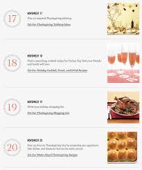 november 17 20 thanksgiving checklist martha stewart living