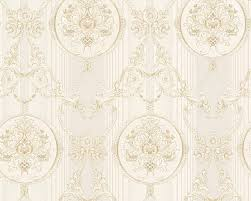 wallpaper hermitage ornaments light grey metallic 33083 2