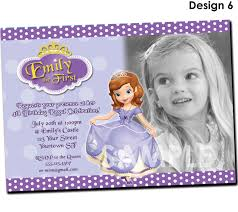Birthday Invitation Card Maker Sofia The First Birthday Party Invitation Sofia The First