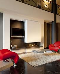 luxurious living room wall unit with gas 3 sided fireplace and