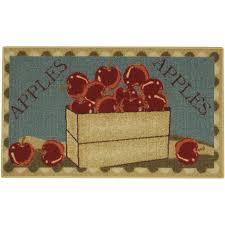 rugnur apple basket red green non skid 18
