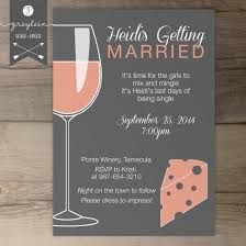 Dinner Party Invitation Card Wine And Cheese Bachelorette Party Invites Invitations