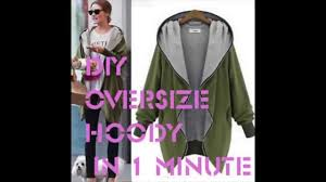 how to make a diy hoodie top in 1 min sewing easy diy project