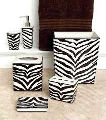 zebra print bathroom setszebra decorative towel set zebra print