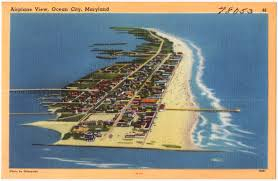 Ocean City Md Map Airplane View Ocean City Maryland Digital Commonwealth
