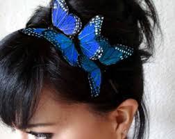 butterfly hair clip butterfly hair clip monarch butterfly hair clip bohemian