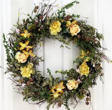 spring door wreaths wrens song silk spring front door wreath 22 in the wreath depot