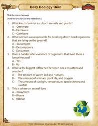 easy ecology quiz u2013 4th grade science worksheets of dragons