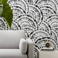 expressionist rounds black and white wallpaper white wallpaper