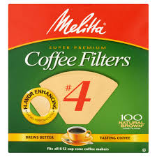 melitta 4 coffee filters natural brown 100 count walmart com