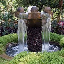 the artistic outdoor garden fountains room design ideas