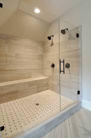 Contemporary  Bathroom With Standard Height Shower Frameless - Bathroom wall tiles design ideas 3