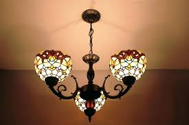 Stained Glass Light Fixtures Dining Room Marvelous Stained Glass Light Fixture Image Of Stained Glass