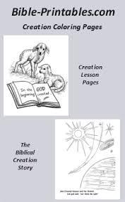 biblical creation story genesis bible printables
