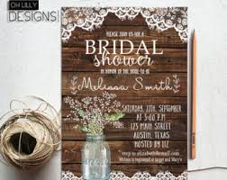 rustic bridal shower invitations rustic bridal shower invitation etsy