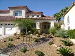 awesome backyard of a house in desert landscaping ideas for