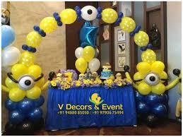 Minion Birthday Decorations Themed Birthday Decorations V Decors And Events 9488085050