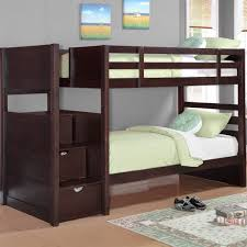 twin over twin bunk beds with stairs and trundle wildon home reg