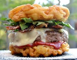 Funnel Cake Burger Culinary Brodown U0027s Carnival Ready Burger