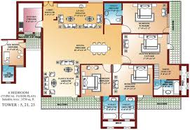 Modern 3 Bedroom House Floor Plans by Four Bedroom Floor Plans Magnificent Ideas Modern House Thiruvalla