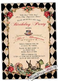 alice in wonderland party invitations template free alice in