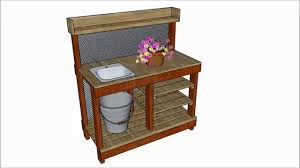 potting table with sink potting bench with sink plans youtube
