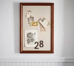 Pin Board Printer U0027s Home Office Linen Pinboard Pottery Barn