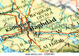 map of bagdad baghdad iraq map stock photo royalty free image 125745791 alamy