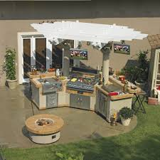 prefabricated outdoor kitchen islands adorable decorating ideas using l shaped brown islands and silver