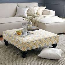 Square Ottoman Coffee Table Diy Oversized Tufted Ottoman Coffee Table Upholstered Top Shelf