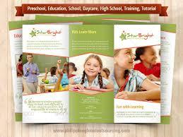 tri fold school brochure template preschool brochure template fieldstation co