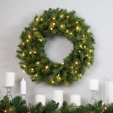 norwood 24 inch battery operated pre lit led white light wreath