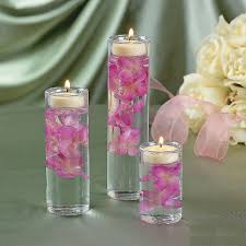 amazon com set of 3 glass cylinder tealight holder ceremony vase