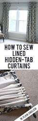 Curtain Patterns To Sew Tutorial How To Sew Diy Black Out Lined Back Tab Curtains