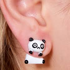 back earrings panda front and back earrings s us
