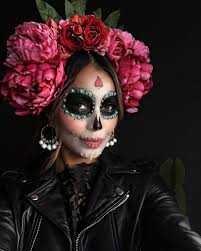 Day Of The Dead Halloween Makeup Ideas Happy Dia De Los Muertos Flower Crown And Makeup By My Lovely