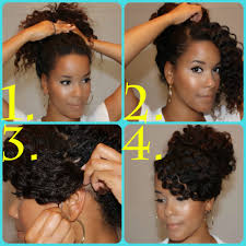 swoop bang high bun tutorials for natural and curly hair how
