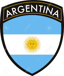 vector argentina flag with crest royalty free cliparts vectors