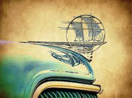 1936 plymouth ornament photograph by steve mckinzie