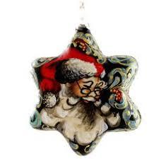 santa w presents glass christmas ball ornament no 1 austria