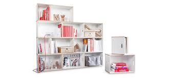 Modern White Bookcases Brickbox Modern Shelving Modmobili