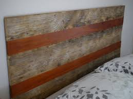 hand crafted queen size rustic headboard with reclaimed lumber and